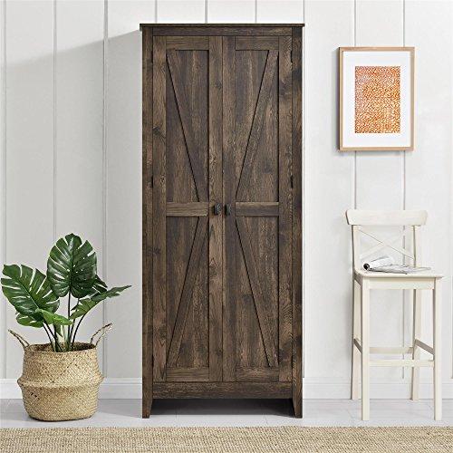 Ameriwood Home Farmington Wide Storage Cabinet 315quot Rustic