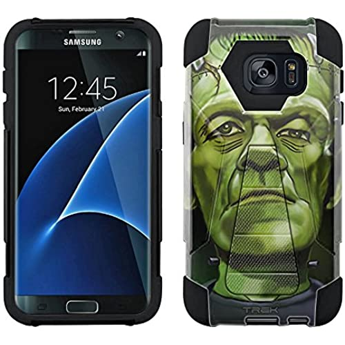 Samsung Galaxy S7 Edge Hybrid Case Frankenstein 2 Piece Style Silicone Case Cover with Stand for Samsung Galaxy S7 Edge Sales