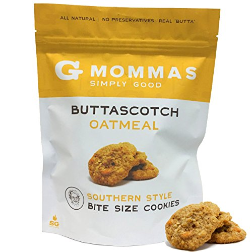 Oatmeal Cookies with Butterscotch - Crispy Bite Sized - G Mommas Homemade Oatmeal and Butterscotch Cookies (Single) (Sized Desserts Bite)