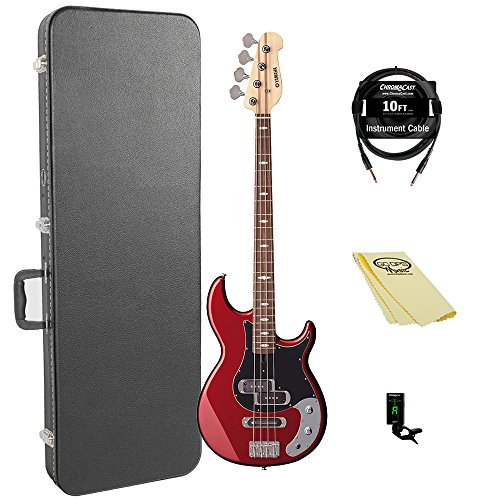 Yamaha BB234 BB-Series 4-String Bass Guitar with Hard Case and Accessories, Raspberry Red from Yamaha