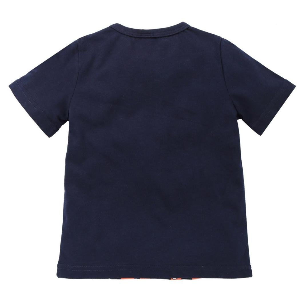 Baby T-Shirt,Fashion Baby Boys Girls Short Sleeve O Neck Letter Print T-Shirt Blouse Tee Tops Summer Clothes for 1-7 Years Old Baby