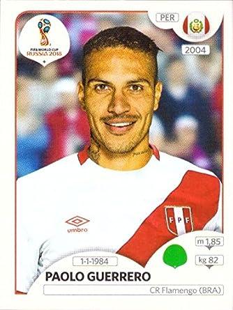 4b747bb41 2018 Panini World Cup Stickers Russia  248 Paolo Guerrero Peru Soccer  Sticker