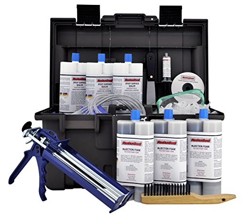 (PRO Foundation Crack Injection Toolkit (30 ft) – The Professional Concrete Crack Repair)