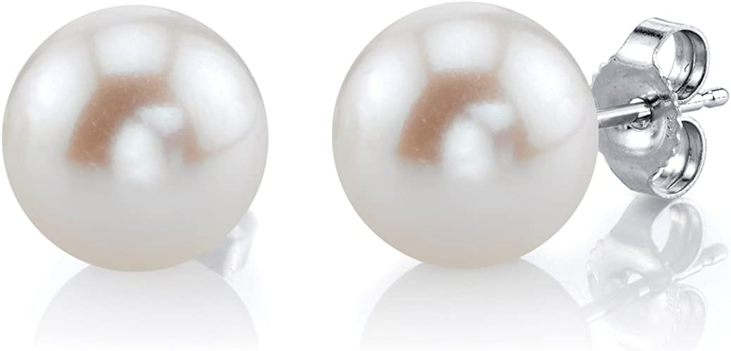 New Freshwater Cultured Pearl Clous d/'oreilles 10 mm 14K Or Jaune-FE0841YWH