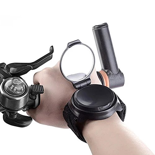 KANGBUKE Bike Mirror, Wrist Mirror Bike rear view mirror collapsible 360 Degree Adjustable Bicycle with Elastic Armband Portable Biking Accessories for Cyclists Mountain Road Bike Riding Cycling by KANGBUKE