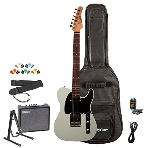 Sawtooth ST-ET-SGRB-KIT-3 Electric Guitar Kit, Surf Green with Black Pickguard & ChromaCast Gig Bag