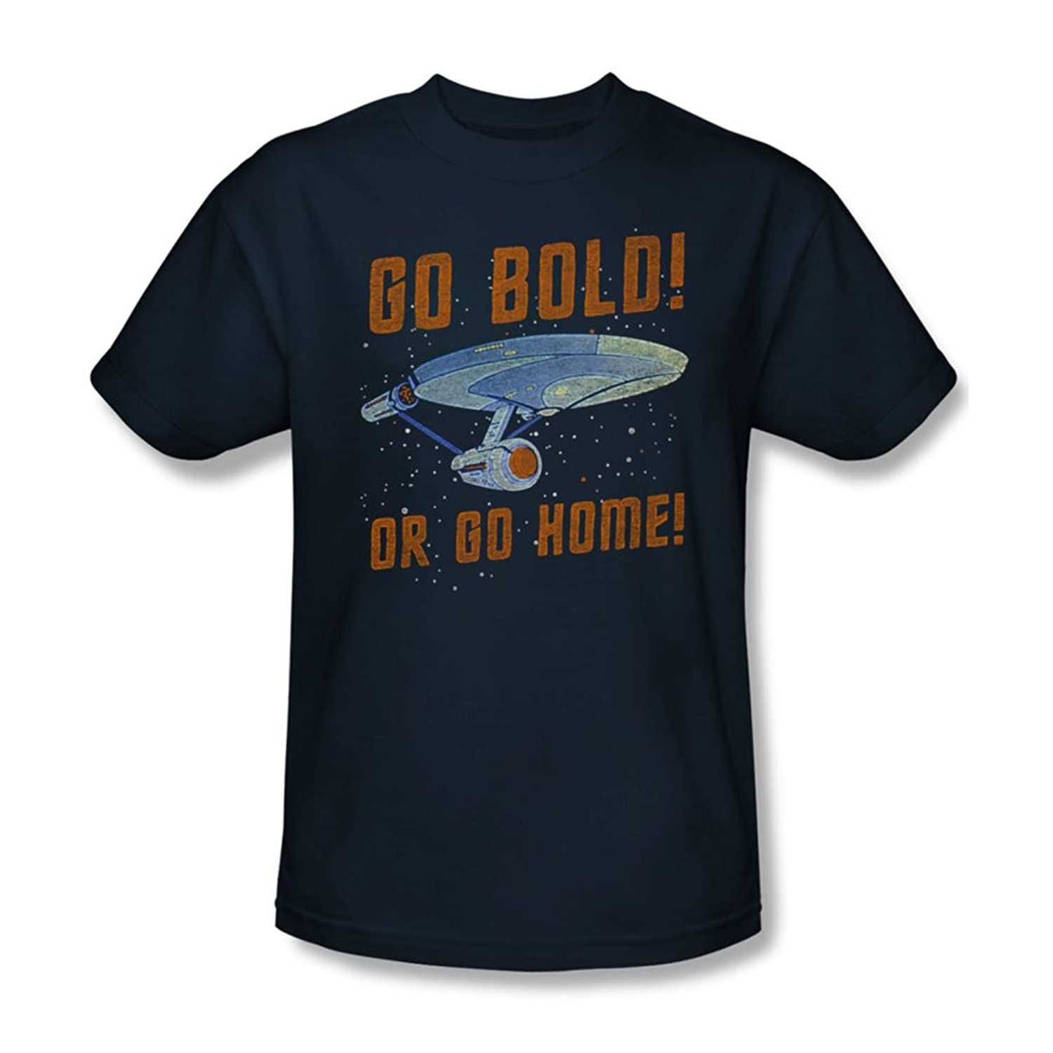 Star Trek - Mens Go Bold T-Shirt In Navy