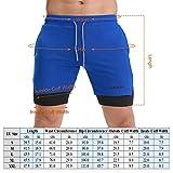 Lixada Men's 2-in-1 Running Shorts Breathable