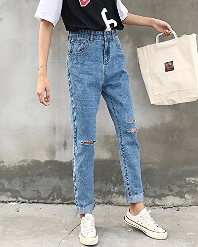 Comme Denim Taille Image Femme Dchirs Rtro En Pantalons Jeans Haute Avec Trous zZqXv7wZ