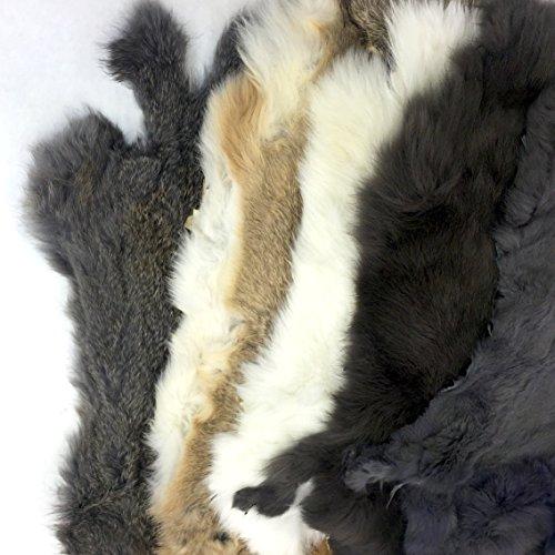 Assorted Bulk Craft Grade Rabbit Pelts (5 Pack) by Cinema Leather (Image #3)
