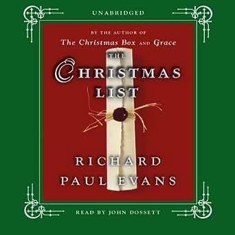 amazon com the christmas list a novel audible audio edition