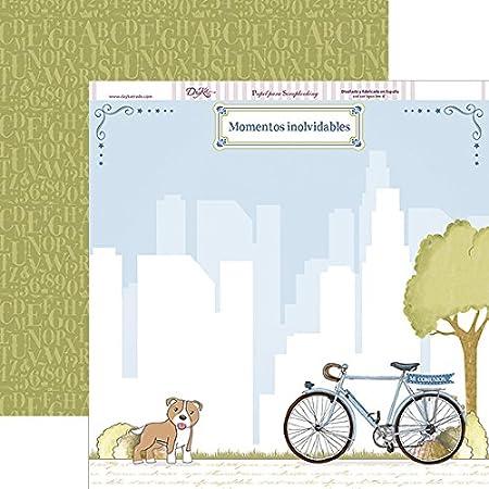 Dayka Trade Papel Scrapbooking Primera comunión Bicicleta y Perro ...
