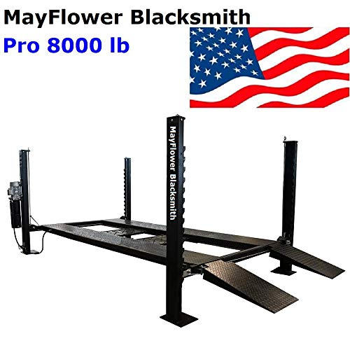 Mayflower Blacksmith Four Post Lift car Lift Storage Service 8000 lb Pro 8000 (Best Home Car Lift)