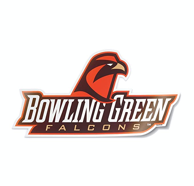 NCAA Collegiate Car Decal from Nudge Printing (Bowling Green State University Falcons) best laptop stickers for college students