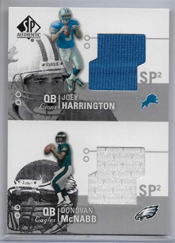 2002 UD SP Authentic Football Harrington-McNabb Dual Jersey Card # - Authentic Hm Jersey