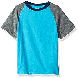 The Children\'s Place Big Boys\' Raglan T-Shirt, Blue Atoll, M (7/8)