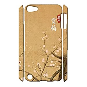 iPod Touch 5th Generation Protective Case,Gorgeous Popular Chinese Style Drawings Case 3D Protective Case for iPod Touch 5th Generation Phone Case