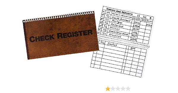 amazon com big bold easy to write and read check register health