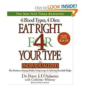 Eat Right 4 Your Type Peter J. D'Adamo