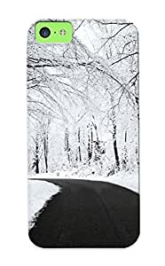 New Snap-on Podiumjiwrp Skin Case Cover Compatible With Iphone 5c- Snowy Forest Road