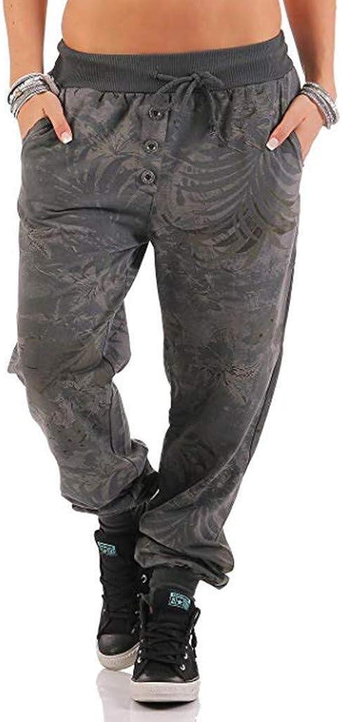 Pantalones Con Estampado De Mujer Pantalones Ropa Para festiva ...