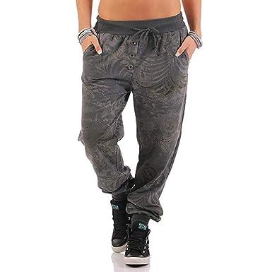 Pantalones Con Estampado De Pantalones Jungla Para Mujer De Mode ...