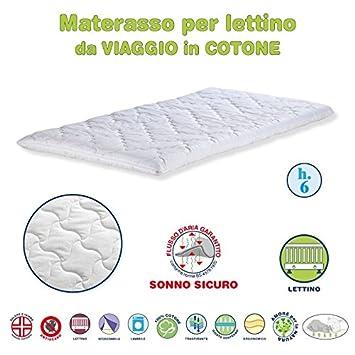EFFETTO CASA Colchón para Cama de Viaje/Camping Made in Italy Antisoffoco Materasso campeggio trapuntato Cotone: Amazon.es: Hogar