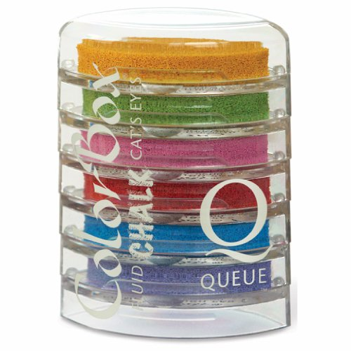Colorbox Cats Eye Queue Chalk - ColorBox Fluid Chalk Cat's Eye Queue Ink Pad 6/Pkg-Primary Elements