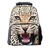 3D Cheetah Print Children School Backpack With Laptop Compartment Girls Printed Felt Fabric Book Bag Boys Animal School Teen Rucksacks