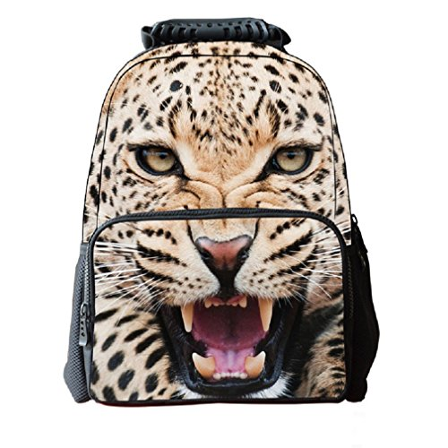 3D Cheetah Print Children School Backpack Laptop Compartment Girls Printed Felt Fabric Book Bag Boys Animal School Teen Rucksacks -