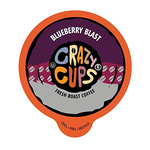 Mountain Blackberry - Crazy Cups Flavored Coffee, for the Keurig K Cups 2.0 Brewer, Blueberry Blast, 22 Count