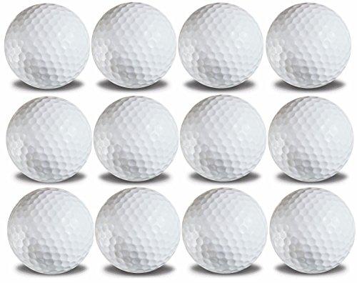1 Dozen Custom Printed White Golf Balls Upload Your Logo or Text (White) Custom Golf Balls
