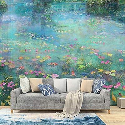 Milusen Oil Painting Garden Wallpaper Monet Water Lily