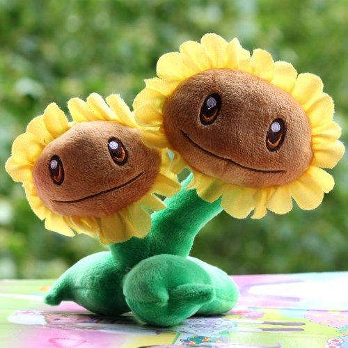 Plants vs Zombies 2 Plush Doll Twin-Sunflower PVZ Soft Doll