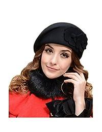MAXGOODS Women's Winter Beret Warm Wool Cap Hat Elegant British Style