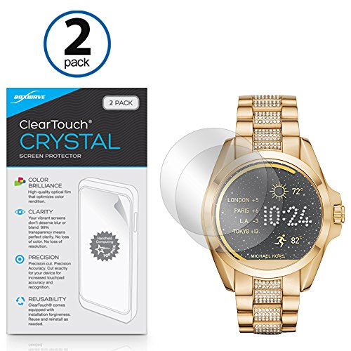 Michael Kors Access Bradshaw Screen Protector, BoxWave [ClearTouch Crystal (2-Pack)] HD Film Skin - Shields From Scratches for Michael Kors Access Bradshaw