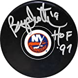 Brian Trottier NY Islanders pucks withHOF 97 Inscription - Licensed Sports Collectible
