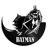 VinylShopUS – Batman Vinyl Wall Clock Movie Theme Retro Decor