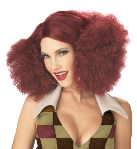 (California Costumes Women's Disco Sensation Wig,Burgundy,One)