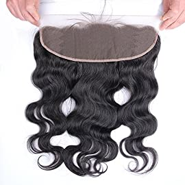 Beata Hair Brazilian Virgin Hair Body Wave 13″x4″ Lace Frontal Closure 08 inch Free Part Bleached Knots Baby Hair Full Lace Frontal Piece