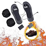 KOBWA Battery Heated Insole,Cuttable Carbon Fiber Electric Thermal Foot Warmers Shoes Pads Winter Heating Insoles for Men and Women Camping Fishing Hiking Skiing and Other Outdoor Activities, DIY Size