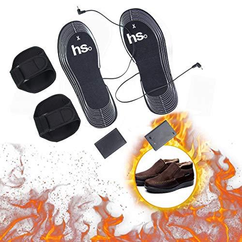 Aolvo Plantillas calefactadas para mujeres y hombres, plantillas eléctricas de calentamiento de pies, almohadillas para...