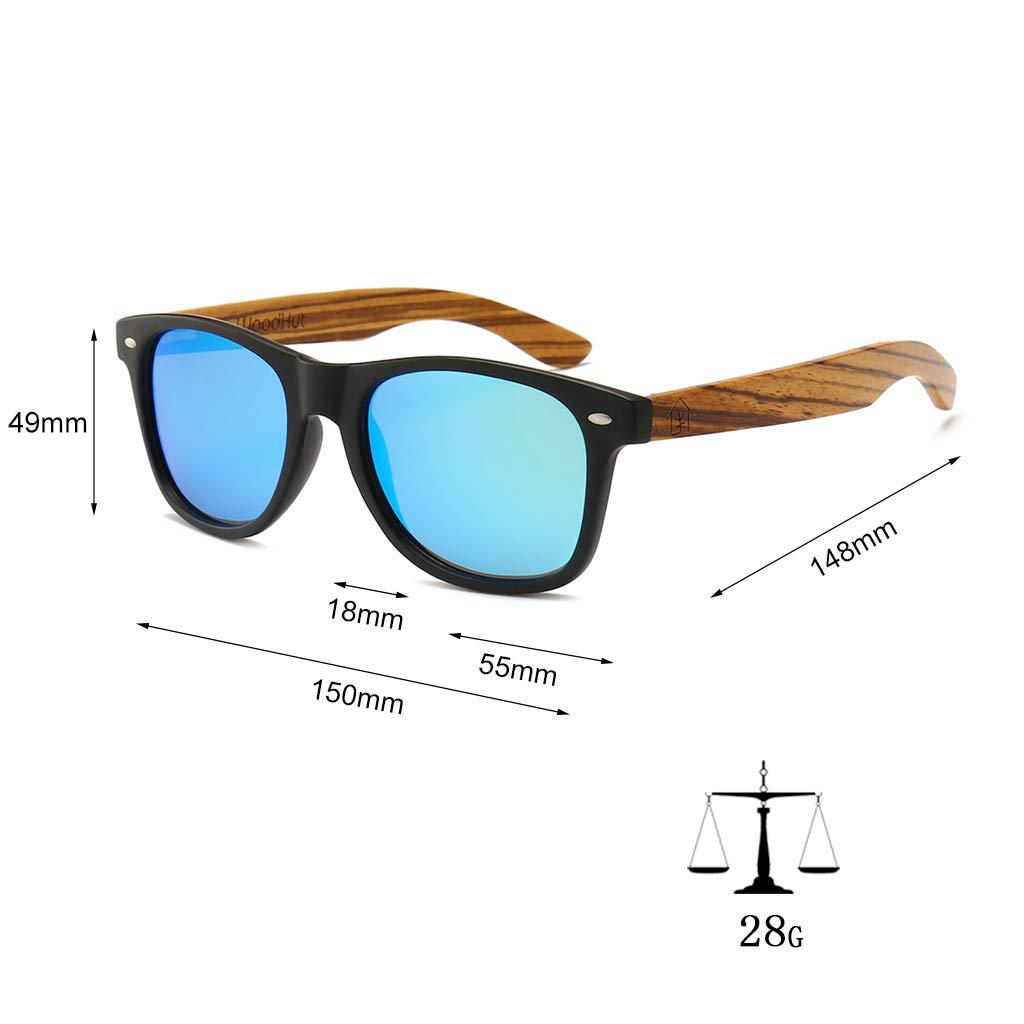 Amazon.com: Woodhut Zebra - Gafas de sol de madera para ...