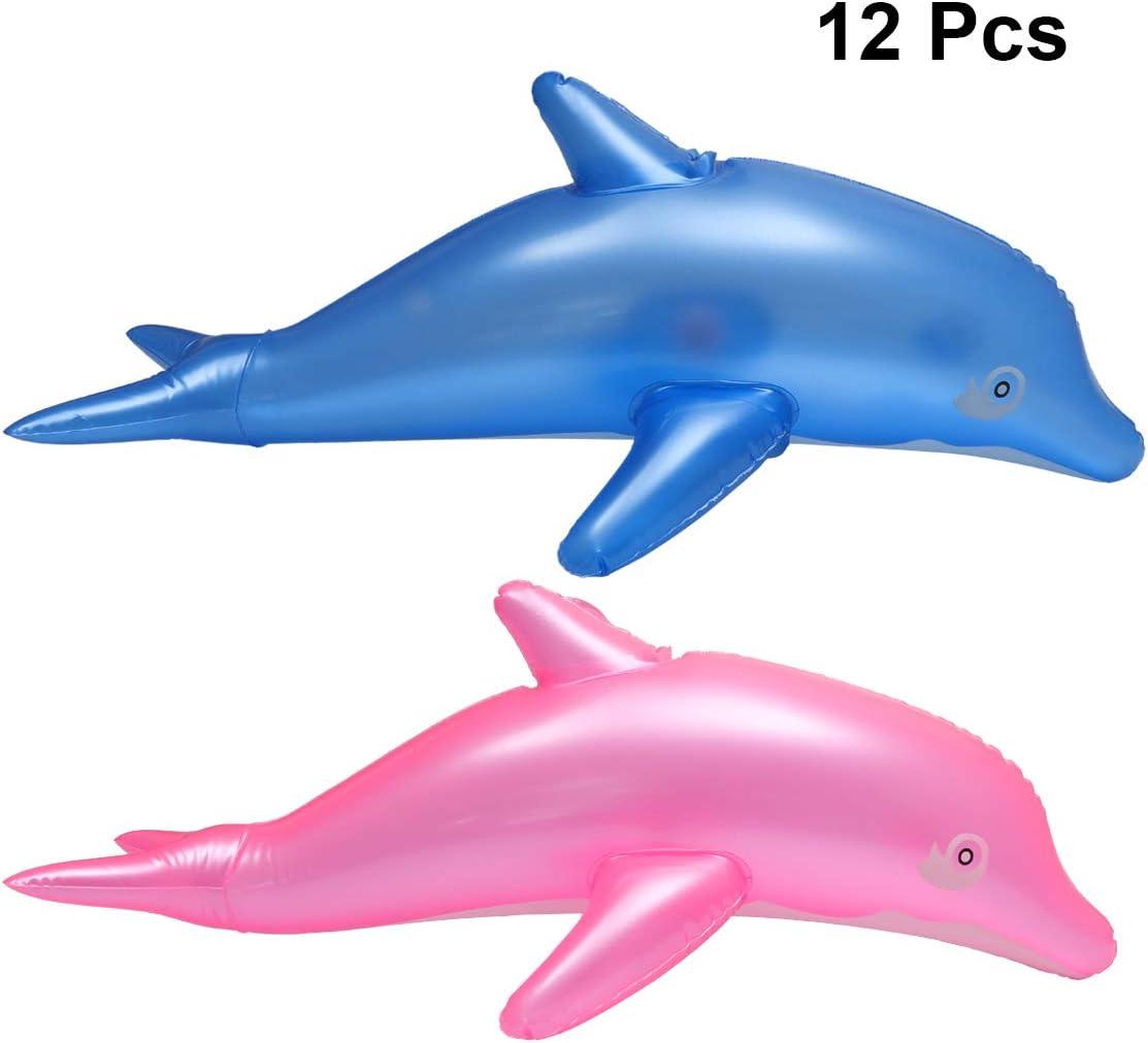 YeahiBaby Delfín Hinchable para Juguete Piscina Playa Agua y Baño del Favor de Partido de Niños 12pcs