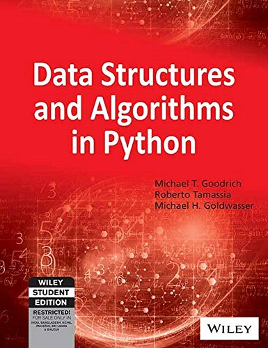 Book cover of Data Structures and Algorithms in Python by Michael T. Goodrich