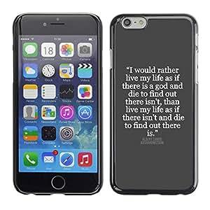 TopCaseStore / la caja del caucho duro de la cubierta de protección de la piel - Inspiring Quote Jesus God - Apple iPhone 6 Plus 5.5