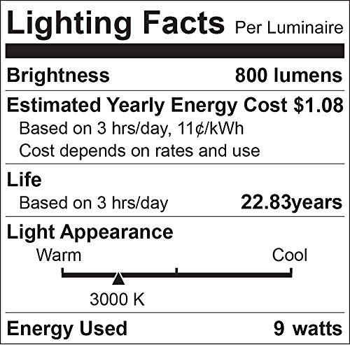 Luxrite A19 LED Bulb 60W Equivalent, 3000K Warm White, 800 Lumens, Dimmable Standard LED Light Bulbs 9W, Enclosed Fixture Rated, Energy Star, E26 Medium Base - Indoor and Outdoor (6 Pack)