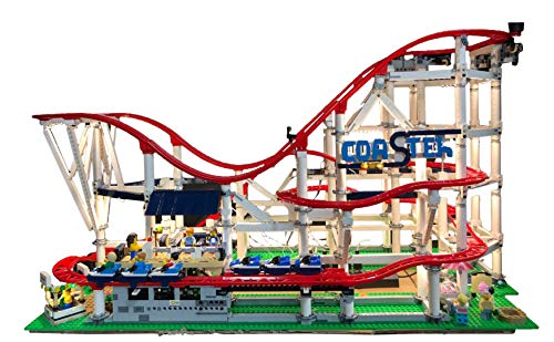 Deluxe Version Lighting Kit for YOUR LEGO Roller Coaster set 10261 by Brick Loot - LEGO SET NOT INCLUDED ()