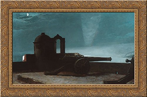 Searchlight on Harbor Entrance, Santiago de Cuba 24x17 Gold Ornate Wood Framed Canvas Art by Homer, Winslow ()