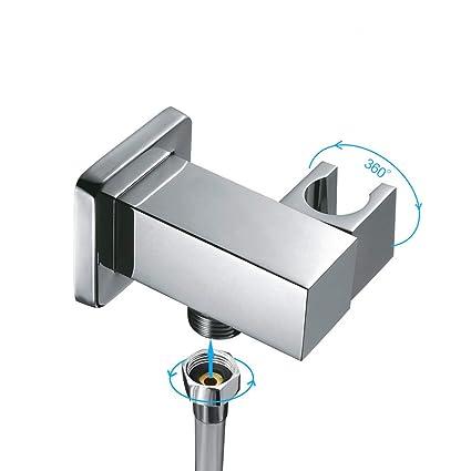 Soporte de ducha Ajustable de Latón Cabezal de ducha 360° Rotar Bracket y  Conector para d65326afa9c5